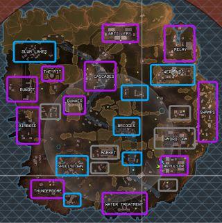 Rendez-vous sur Apexmap.io pour connaître la probabilité de trouver chaque butin de chaque niveau de chaque zone.