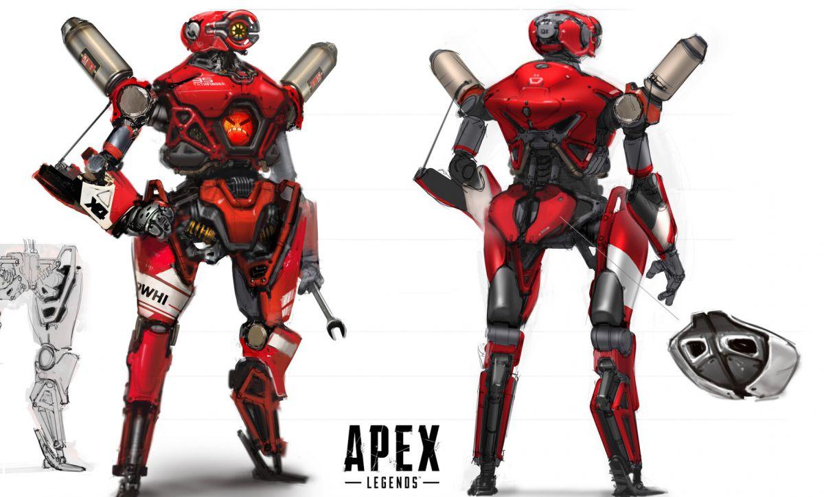 Voici une tonne d'art incroyable d'Apex Legends, y compris l'extraordinaire Pathfinder   Par  Christopher Livingston   A-Pix Concepts, modèles et œuvres d'art issus du développement de la bataille royale de Respawn.